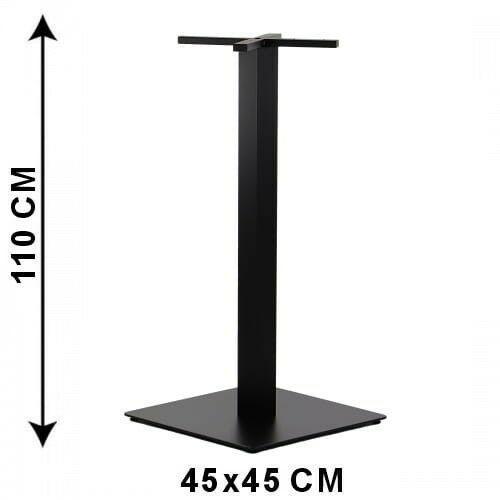 Podstawa stolika SH-5002-7/H/B, 45x45 cm, wysokość 110 cm (stelaż stolika), kolor czarny (5903917404280)