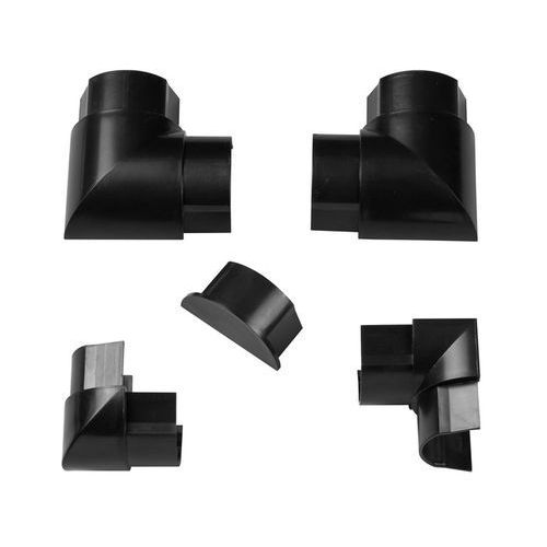Akcesoria do listwy połączeniowej 50 x 25 mm czarne 6 szt., RETAP5025B