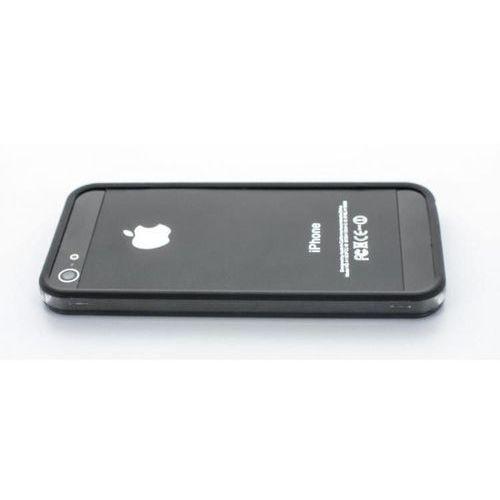 Geffy - Etui iPhone SE / iPhone 5s / iPhone 5 bumper TPU/PVC black, kolor czarny