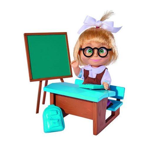 Lalka Masza w szkolnym stroju przy tablicy, 9301944
