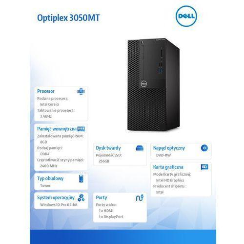 Optiplex 3050MT Win10Pro i5-7500/256GB SSD/8GB/DVDRW/HD630/3Y NBD, N030O3050MT_W10_PL
