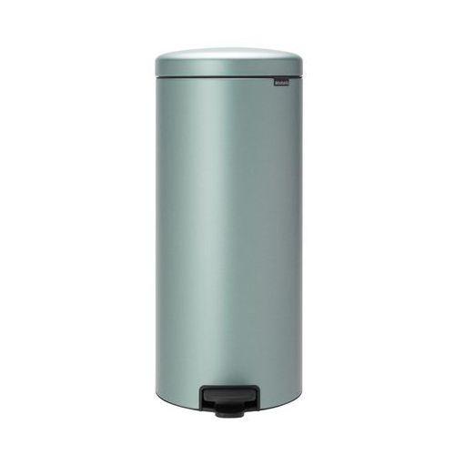Brabantia - kosz newicon - 30 l - plastikowe wiadro i wolnoopadająca pokrywa - metaliczny miętowy - miętowy