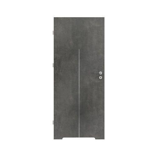 Porta Skrzydło drzwiowe line beton ciemny 80 lewe (5903434517418)