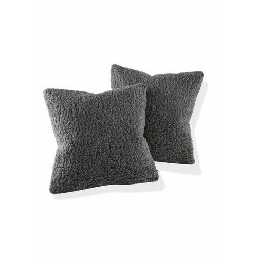 Narzuta na sofę z materiału z żywej wełny bonprix antracytowy