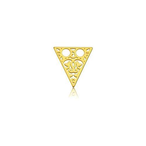 925.pl Blaszka celebrytka trójkąt - ażurowy, złoto próba 585