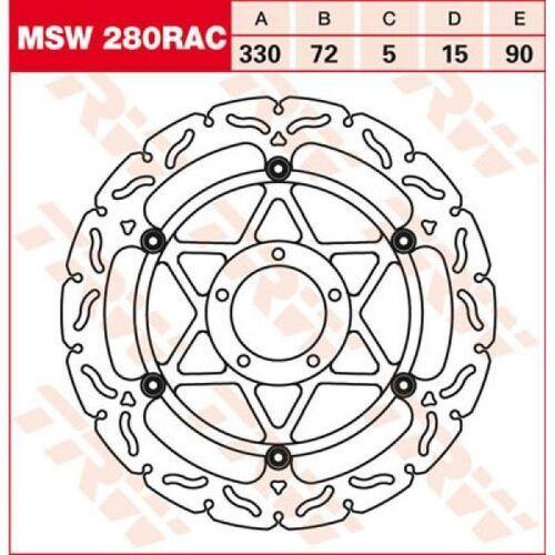 tarcza hamulcowa trw msw280rac ducati 1098 bip marki Trw