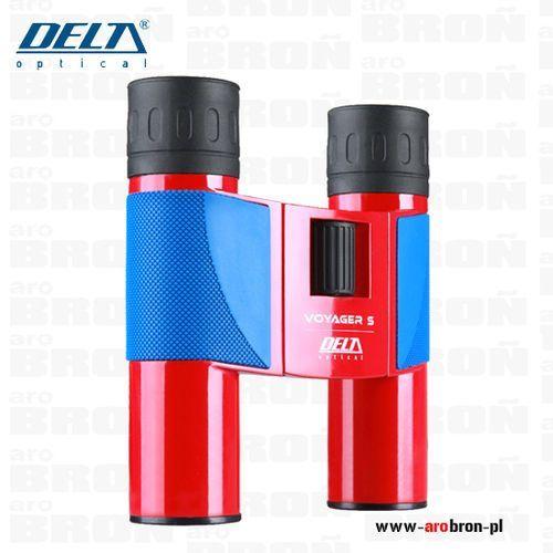 Delta optical Lornetka voyager s 10x25 - kolor czerwony, turystyczna, lekka