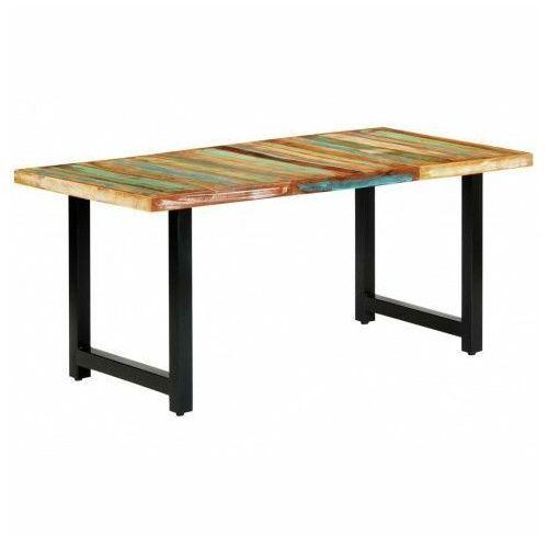 Stół z drewna odzyskanego Buzel 2X – wielokolorowy, vidaxl_283786