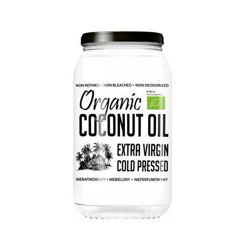 DietFood Organic Coconut Oil - Bio Olej Kokosowy 1000ml - nierafinowany, 0AB2-451E2