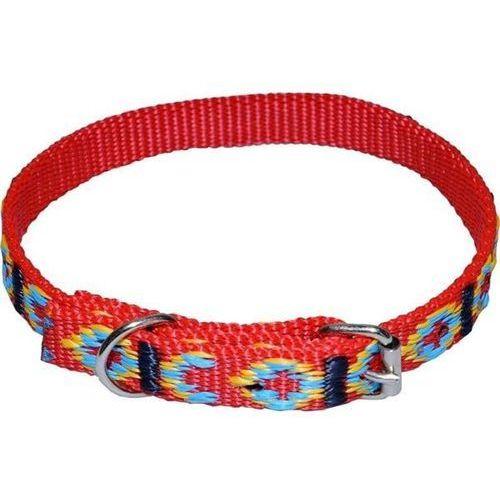 CHABA Standard - ozdobna obroża dla psa o obwodzie szyi 24cm-31cm - 24cm-31cm \ Czerwony