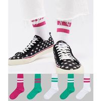 Asos design sports style socks in summer weight in bold green & pinks 5 pack - multi