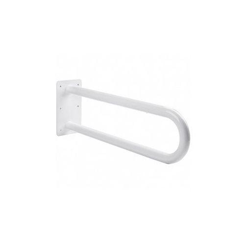 Poręcz stała łukowa dla niepełnosprawnych 600 mm biała