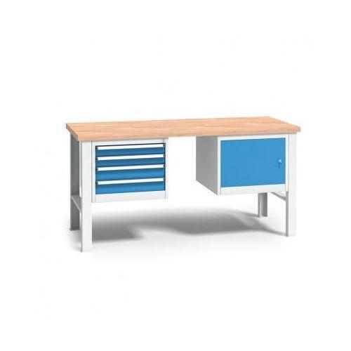 Profesjonalny stół warsztatowy z drewnianym blatem roboczym marki B2b partner