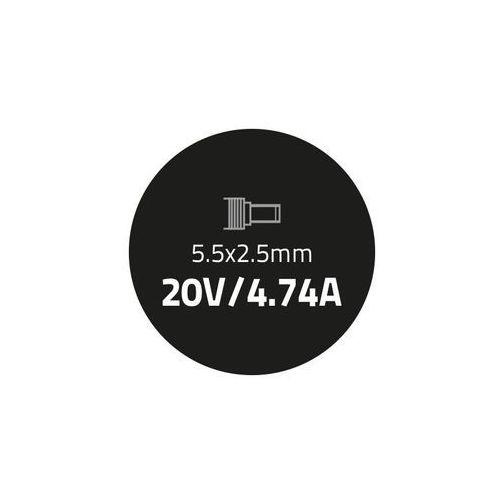 Qoltec Zasilacz do IBM Lenovo 90W   20V   4.74A   5.5*2.5