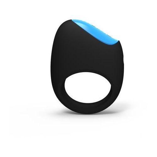 Sterowany aplikacją wibrujący pierścień na penisa - Picobong Remoji Lifeguard Ring Vibe Czarny