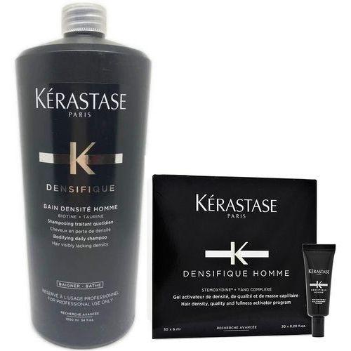 densifique | zestaw zagęszczający włosy dla mężczyzn: kąpiel 1000ml + kuracja zagęszczająca 30x6ml marki Kerastase