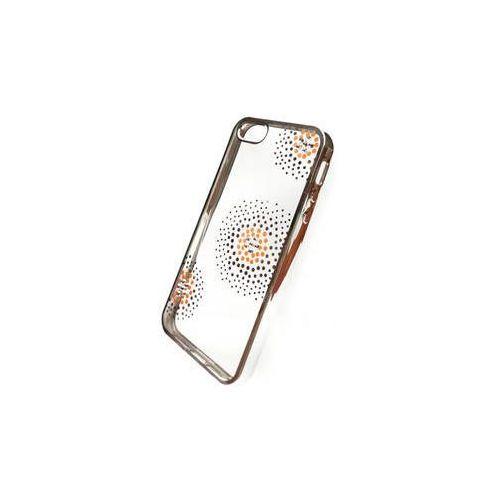 Obudowa dla telefonów komórkowych Beeyo Flower Dots pro Apple iPhone 5/5s/SE (BEAAPIP5TPUFLSI) Srebrny