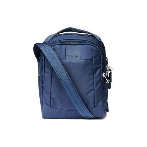 Torba męska na ramię antykradzieżowa Pacsafe MetroSafe LS100 - Granatowy, kolor niebieski