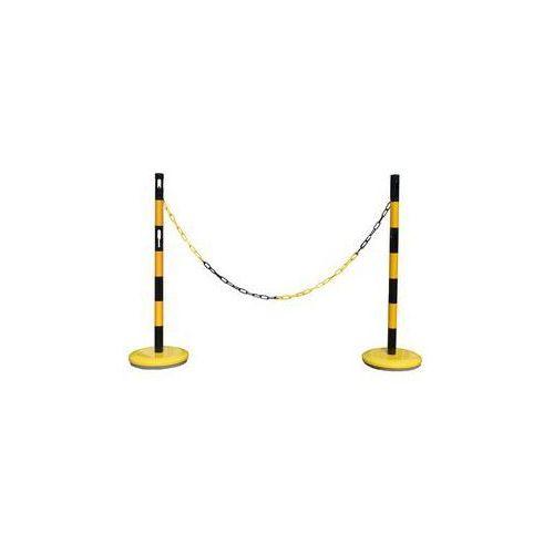 Viso cpn industries Zestaw słupków odgradzających,z 2 słupkami, łańcuch 2,5 m