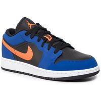 Nike Buty - air jordan 1 low (gs) 553560 480 rush blue/brillant orange