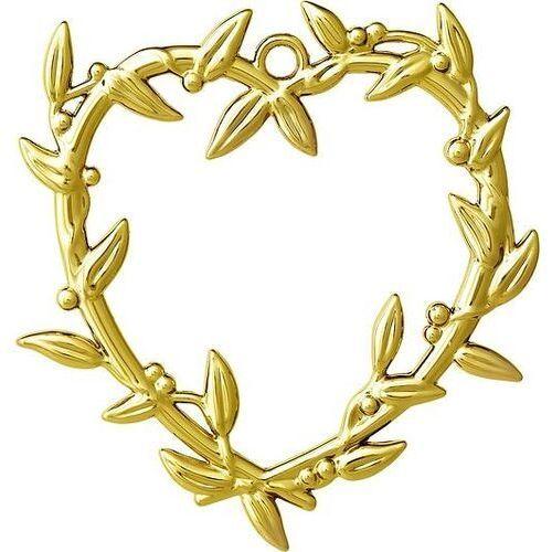 Dekoracja choinkowa karen blixen serce z jemioły złota
