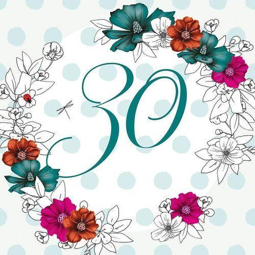 Clear creations Karnet swarovski kwadrat cl1430 urodziny 30 kwiaty (5060481571920)