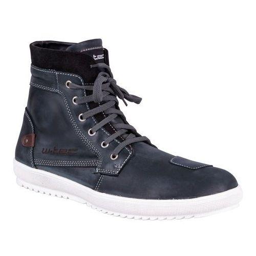 Buty motocyklowe skórzane W-TEC Sneaker 377, Ciemnoniebieski, 40