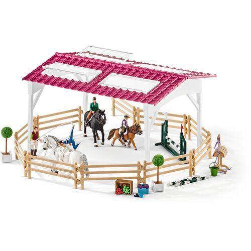 Szkoła jeździecka z jeźdzcami i końmi - marki Schleich