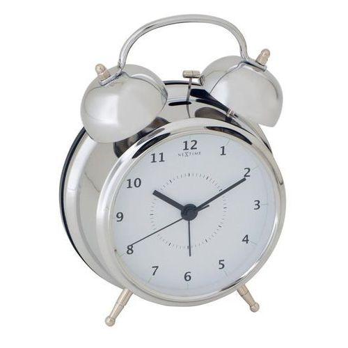 Budzik Wake Up srebrny 15 cm, kolor szary