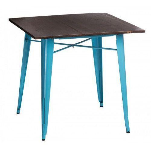 Stół Paris Wood niebieski sosna orzech, 72999