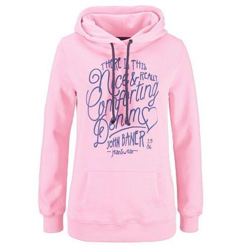 Bluza z nadrukiem bonprix jasnoróżowy, kolor różowy