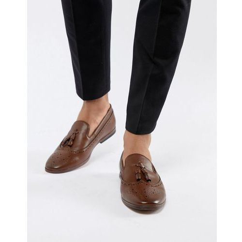 New Look Faux Leather Loafers With Embossed Detail In Tan - Tan