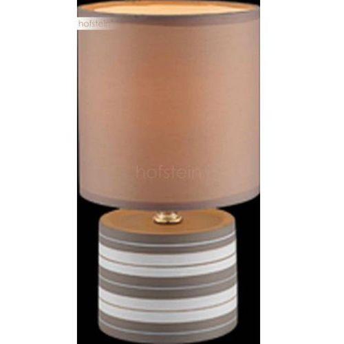 Globo Lampka biurkowa laurie 21663 abażurowa lampa stołowa ip20 okrągły paski brązowy (9007371294633)