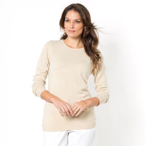 Sweter z okrągłym dekoltem, drobny splot marki Anne weyburn