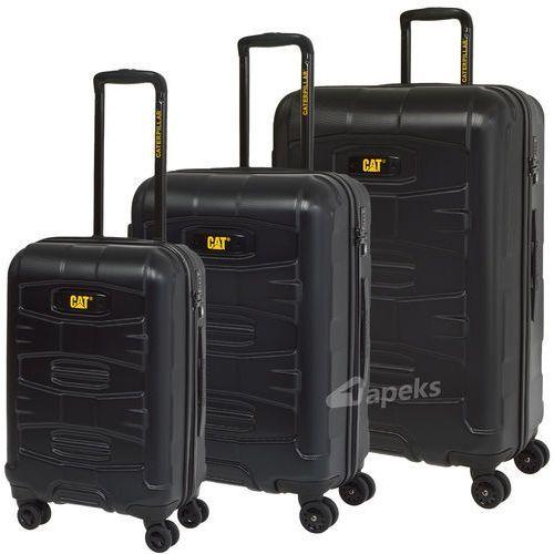 Caterpillar tank zestaw walizek / komplet / walizki cat / czarne - czarny
