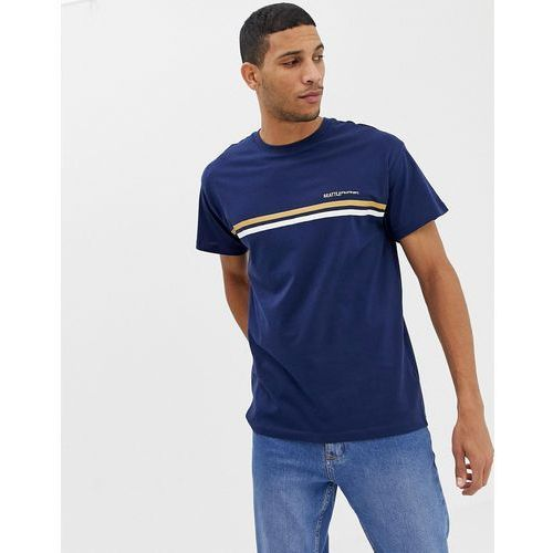 oversized ringer t-shirt with seattle embroidery in navy - navy marki New look