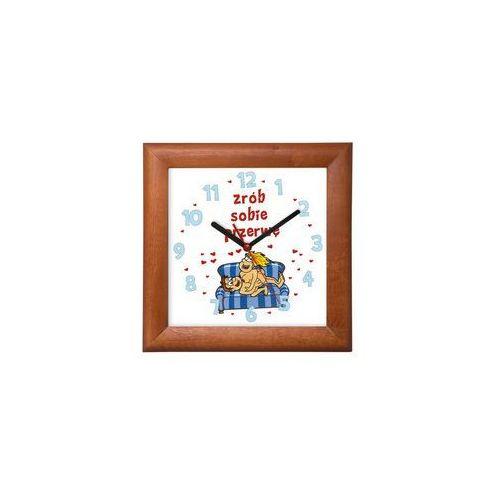 Zegar drewniany kwadrat zrób sobie przerwę marki Atrix