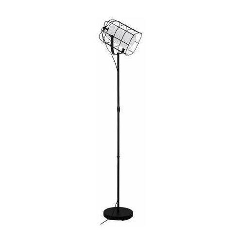 Eglo Bittams 43356 lampa stojąca podłogowa 1x28W E27 czarna/biała (9002759433567)