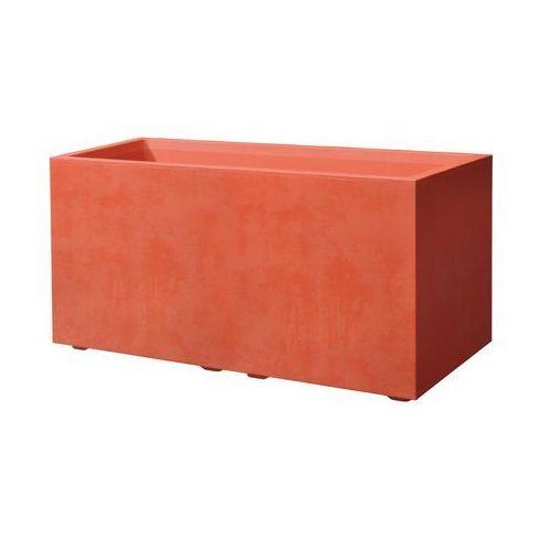 Skrzynka balkonowa 79 x 39.5 cm plastikowa czerwona CASS MIL DEROMA (0726232792666)
