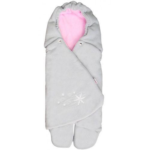 Emitex rożek dla niemowląt zoe, szary/różowy (8595624408032)