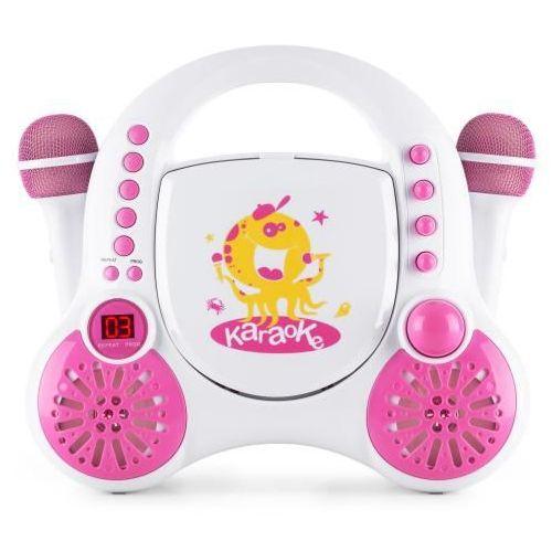 rockpocket dziecięcy system karaoke cd aux 2x mikrofon zestaw naklejek biały marki Auna