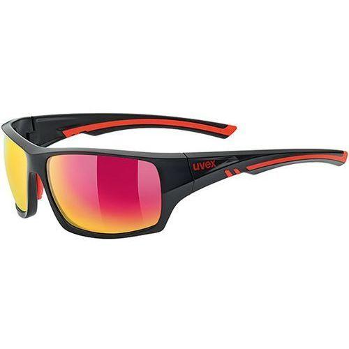 Okulary polaryzacyjne sportstyle 222 pola black/red 53/0/980/2330 marki Uvex