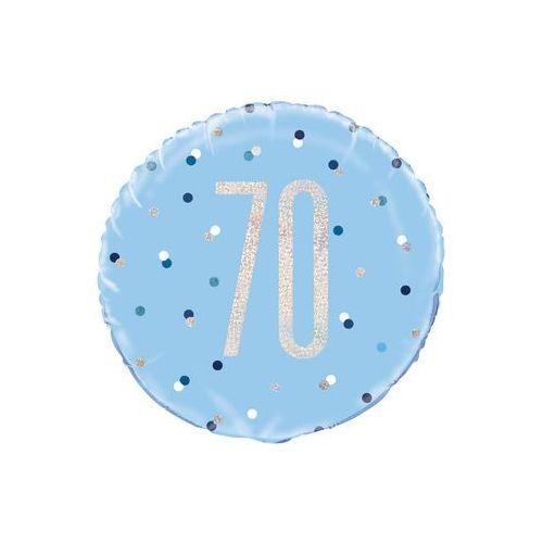 Balon foliowy niebieski - 70 - 46 cm - 1 szt.