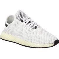 Adidas DEERUPT RUNNER CHALK WHITE CORE BLACK CORE BLACK - Buty Męskie Sneakersy