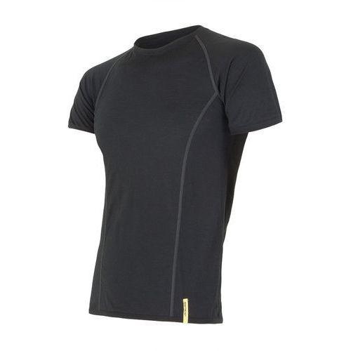 Sensor Bielizna termoaktywna merino wool active men's t-shirt short sleeves czarny xxl