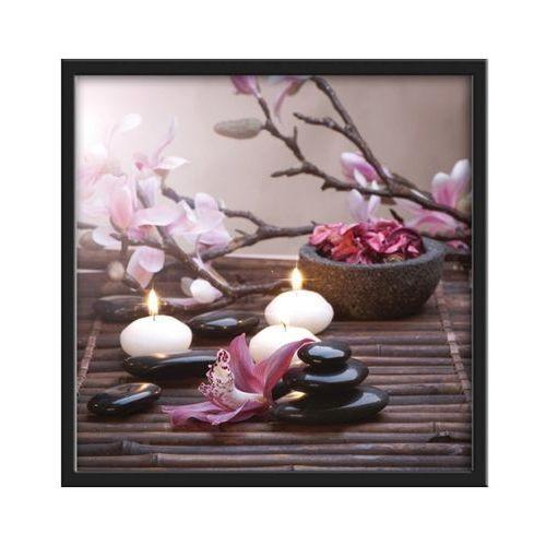 Obraz 30 x 30 cm Kamienie i świeczki, K30X30.004