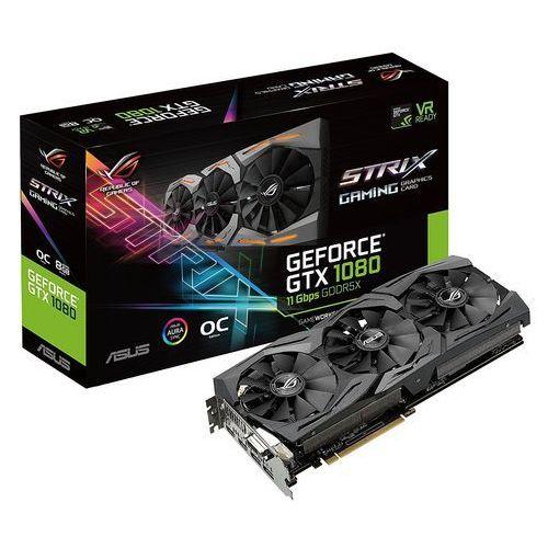 Karta graficzna Asus ROG STRIX GeForce GTX 1080 OC 8GB GDDR5X (256 Bit), DVI-D, 2xHDMI, 2xDP (90YV09M4-M0NM00) Darmowy odbiór w 20 miastach!
