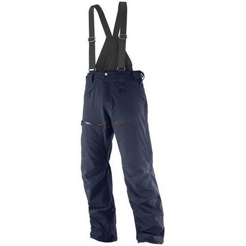 Spodnie narciarskie męskie chill out bib pant (granatowe) marki Salomon