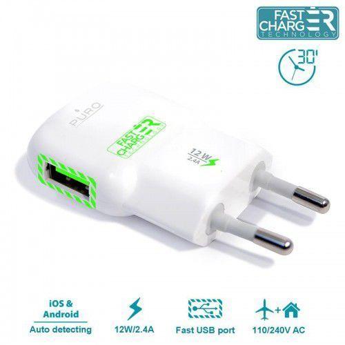 PURO Mini Travel Fast Charger - Ładowarka sieciowa USB 2.4A (biały) - sprawdź w wybranym sklepie
