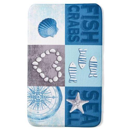 """Bonprix Dywaniki łazienkowe """"muszle"""", pianka memory niebieski"""